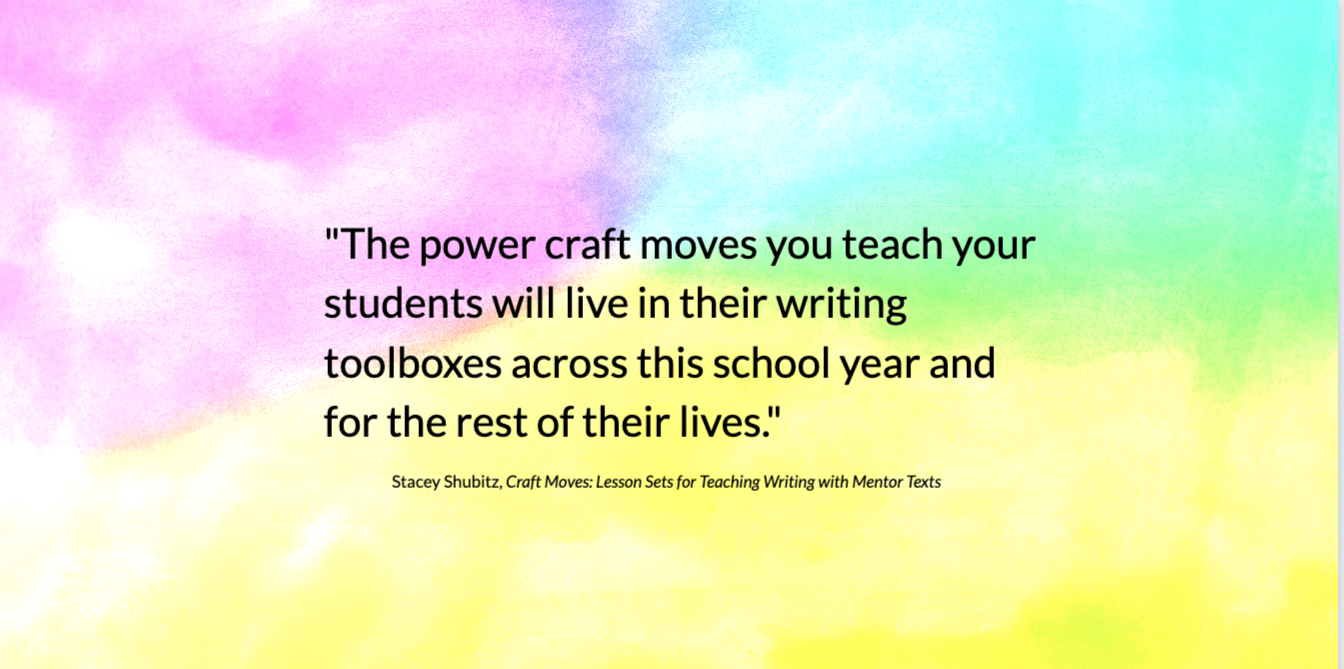 Emphasizing Writer's Craft in the Classroom SOLSC
