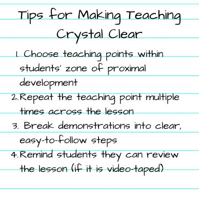 Tips for Making Teaching Crystal Clear