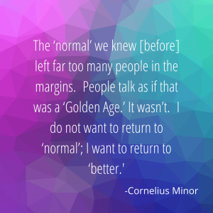 The 'normal' we knew [before]