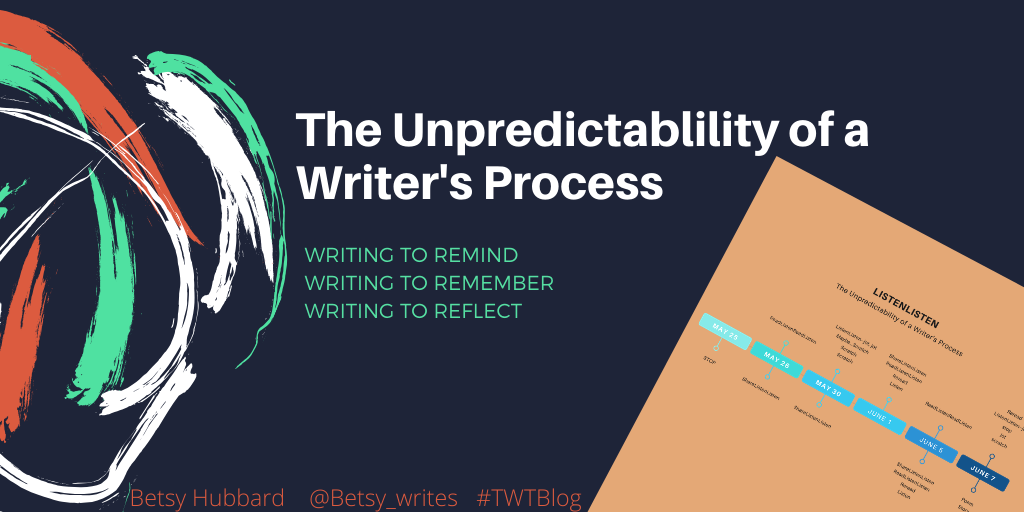 The Unpredictability of a Writer's Process