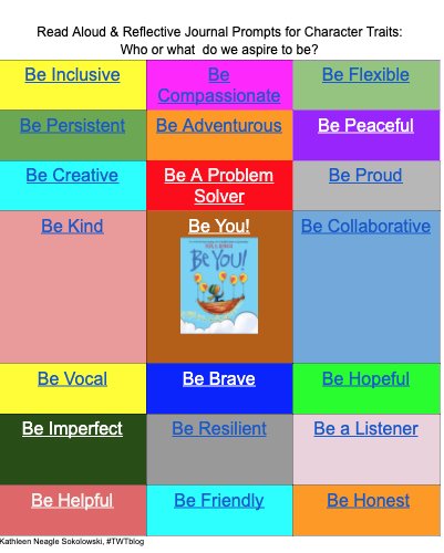 Exploring Character Traits with Reflective Journal Prompts