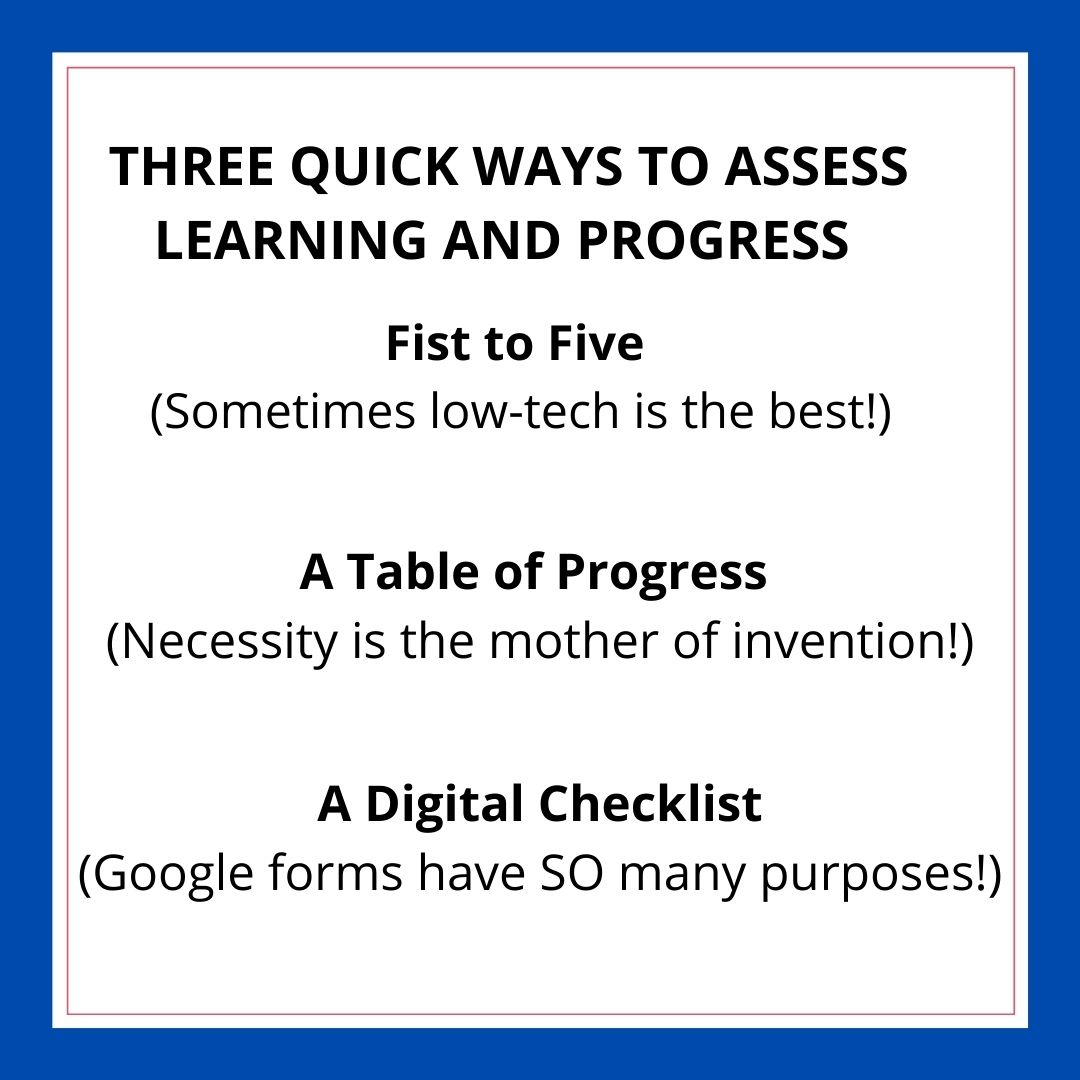 Three Quick Ways to Know How Students Are Doing