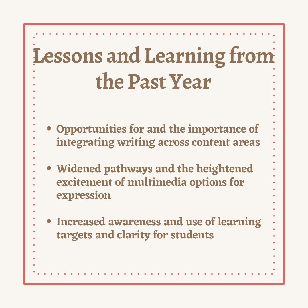 Lessons and Learning from the 2020-2021 School Year